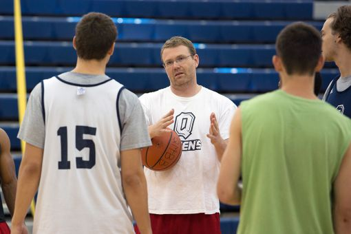 Assistant coach Chris Aim (above) oversaw last Friday's walk-on tryout.