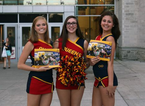 Queen's Pom collaborated with Gaels football to produce a fundraising calendar earlier this year.