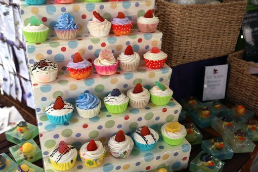 The Kingston Soap Company makes soap in a variety of scents and shapes, including cupcakes.