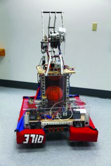 The team's basketball-playing robot.