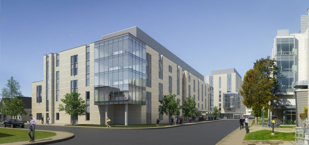 An architect's depiction of the new residences to begin construction in November.