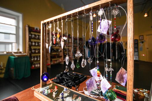 Along with psychic readings, Crockett offers dance classes and spiritual paraphernalia.