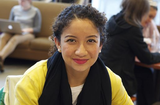 """""""The first floor of Stauffer because there are people watching me, so I work. -Sabrina Parker, ArtSci '14"""