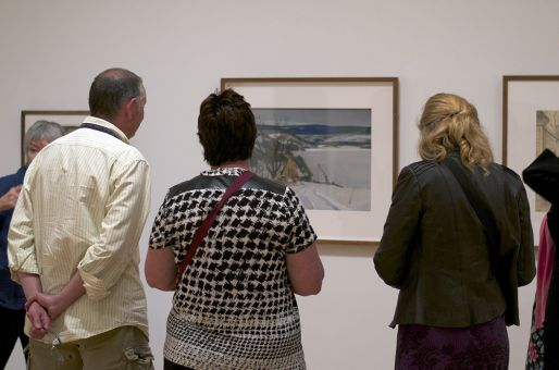 The importance of respecting the gallery space is imperative when observing artwork.