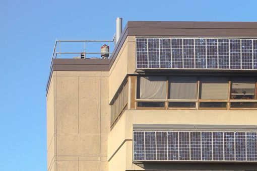 Students are encouraging universities, including Queen's, to move towards greener energy, like the solar panels pictured above.