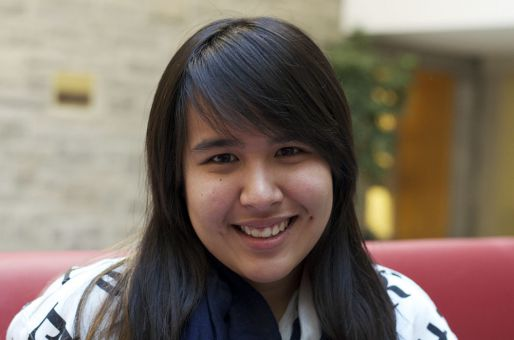 """I want to be a panda because they sleep a lot."" — April Santiago, ArtSci '15"