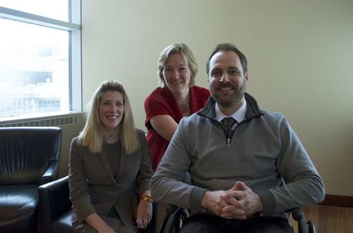 From left to right: Melissa Vassallo, Heidi Penning and Andrew Ashby.