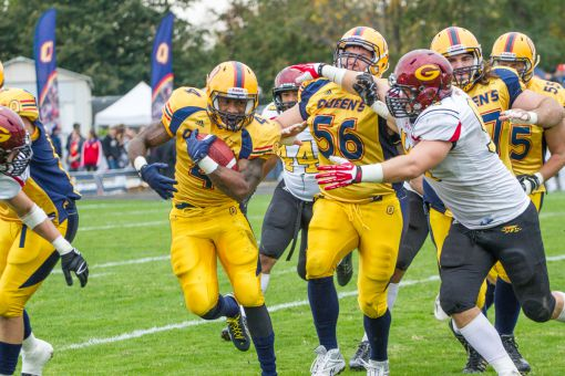 Queen's scored 30 unanswered points in their 37-23 regular-season win over Guelph on Oct. 19.
