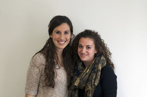 From left to right: Zoey Katz and Elana Moscoe, this year's organizers.