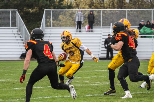 Receiver Alex Carroll had three receptions for 19 yards against Guelph.