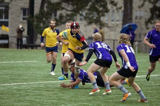 Matt Mullins (top) and Jacob Rumball both scored tries in the championship game.