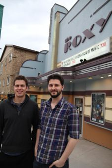 Andrew Smyth (left) and Josh Jensen (right) pose outside of the Roxy in Toronto.