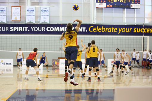 Outside hitter Philippe Goyer led the Gaels with 16 kills in the two games.