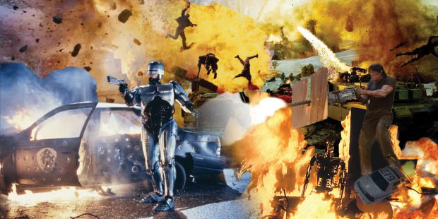 Many popular movies feature scenes of extreme violence.