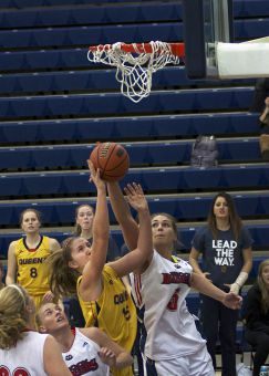 Gemma Bullard scored 21 second-half points against Brock on Saturday, including 15 in the fourth quarter and overtime.