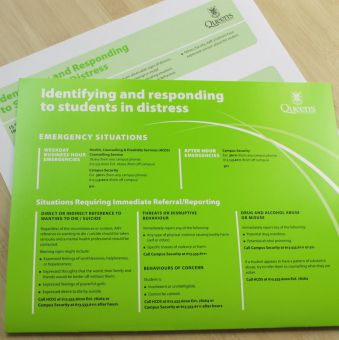 The Green Folder is a resource for professors on how to deal with mental health issues in the classroom.