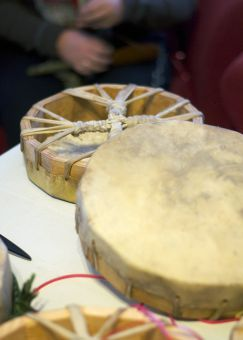All Queen's students are welcome to participate in Thursday hand drumming workshops at the Aboriginal Centre.
