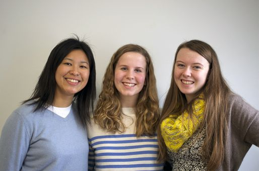 From left to right: Gladys Kong, Abbey Cressman and Elisabeth Beard.