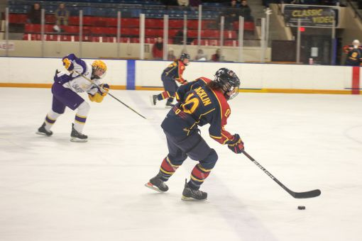 Third-year forward Courtenay Jacklin had two points in Queen's win over Waterloo on Friday.