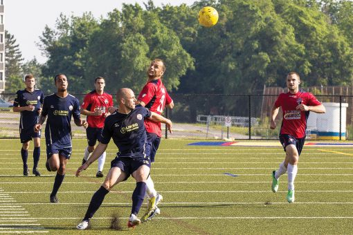 Nathan Klemencic (right) played four years with the Gaels before joining Kingston FC in 2013.