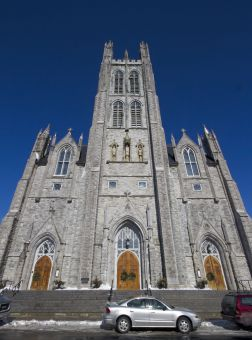 St. Mary's Cathedral at Clergy and Johnson Streets host numerous parishioners every Sunday and throughout the week.