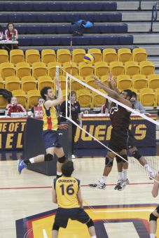The Gaels won the second set against McMaster, but fell 25-13 in the final frame to lose 3-1.