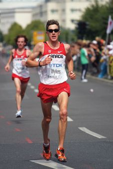 Dylan Wykes, MSc '11, placed 20th in the men's marathon at the 2012 Summer Olympics in London.