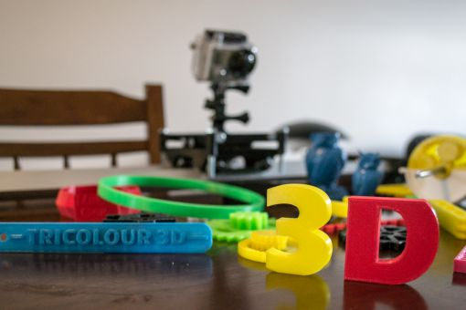 Tricolour 3D prototypes showcase the potential for student creativity using the technology.