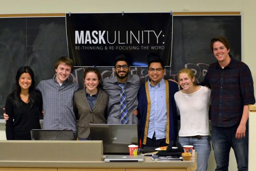 Students who organized Saturday's Maskulinity summit.