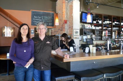 Olivea owners, Stev George and Deanna Harrington at their Italian trattoria.