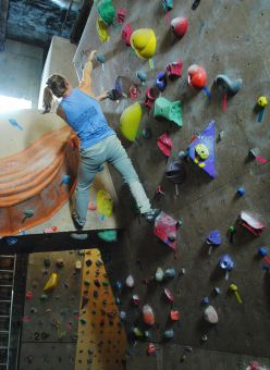The Boiler Room is home to Canada's largest indoor climb.
