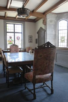 The Memorial Room lists the names of 189 students and alumni killed during the First World War.
