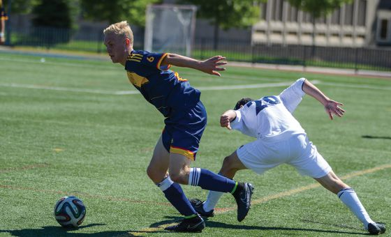 Jacob Schroeter's pair of goals on the weekend moved him into a tie for third-most in the OUA.