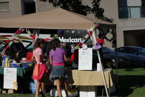 The Mexican Pavilion community booth at Sunday's Multicultural Arts Festival.