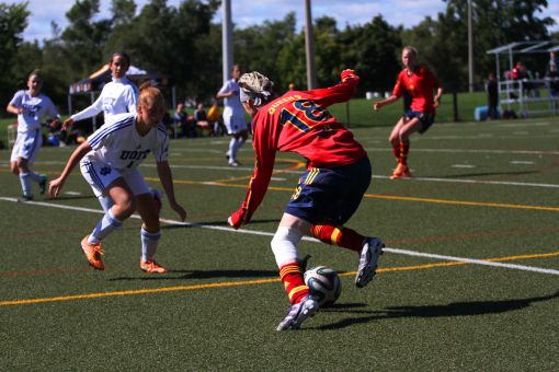 Jackie Tessier was one of several Gaels with multiple chances against UOIT who couldn't convert their shots.