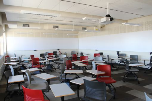 One of the three Ellis Hall active learning classrooms.
