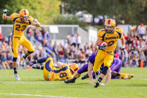 Two years after tearing his ACL, Alex Carroll is leading all Gaels receivers with 22 receptions for 260 yards.