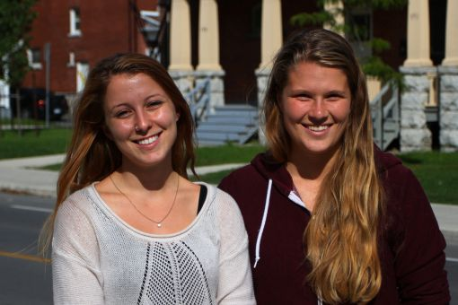 Steph Nanos (left) and Julia Hamer are the co-presidents of the Queen's Concussion Awareness Committee.