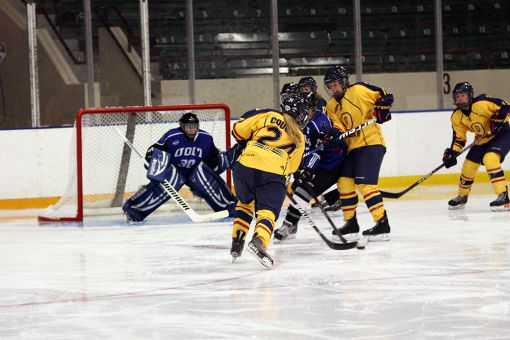 Defencemen Mary Coughlin (above), Danielle Girard and Alisha Sealey have combined for 69 points since 2012.