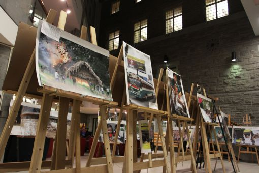 James Rodríguez's photos of mining impact on Central American communities, displayed in the JDUC.