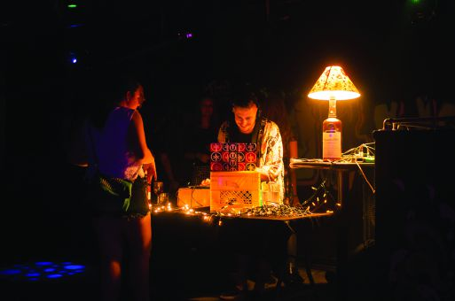 DJ KLYNK at the Underground during the QPop Music Festival.