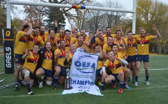 Men's rugby claimed their third consecutive OUA title on Saturday with a 32-23 win over the Guelph Gryphons. It had been 18 years since the last three-peat in OUA men's rugby.