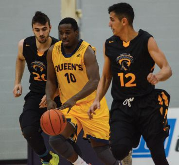 Cy Samuels had 14 points, seven rebounds and two steals in Saturday's loss to the Golden Hawks.