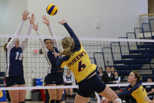 Shannon Neville racked up 18 kills in the Gaels five-set loss to the York Lions.