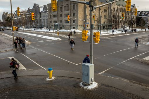 University Ave. and Union St. may receive a scramble crossing in September.