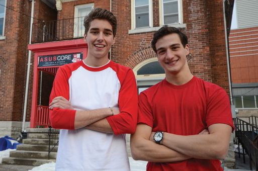 Brandon Jamieson, left, and Andrew DiCapua are looking to ASUS's future to inform their campaign.