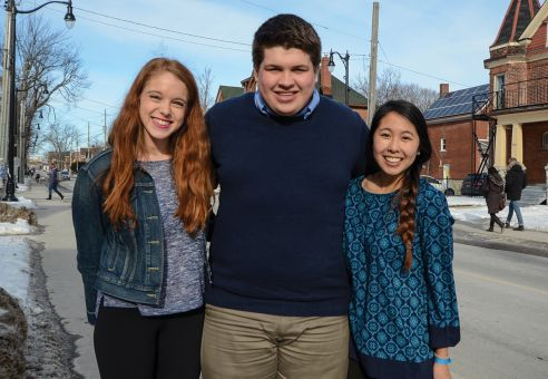 From left: Hannah Ramsay, David Wiercigroch and Sarah Chin, or Team WRC.