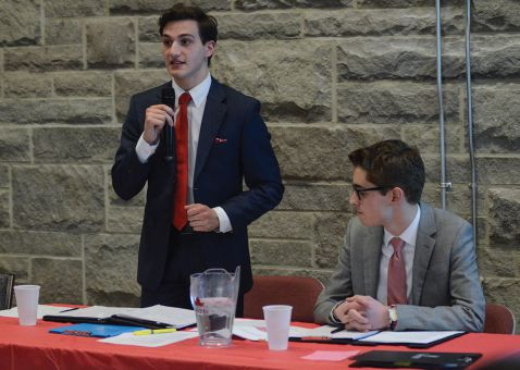 Andrew DiCapua, left, and Brandon Jamieson are running for ASUS executive.