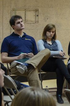 Andrew Crawford, left, and Erin Murphy at Thursday's debate.