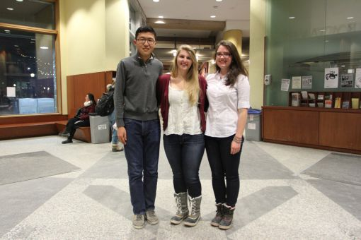 From left: Leo Liu, Emily Gjos and Marianne Cameron.